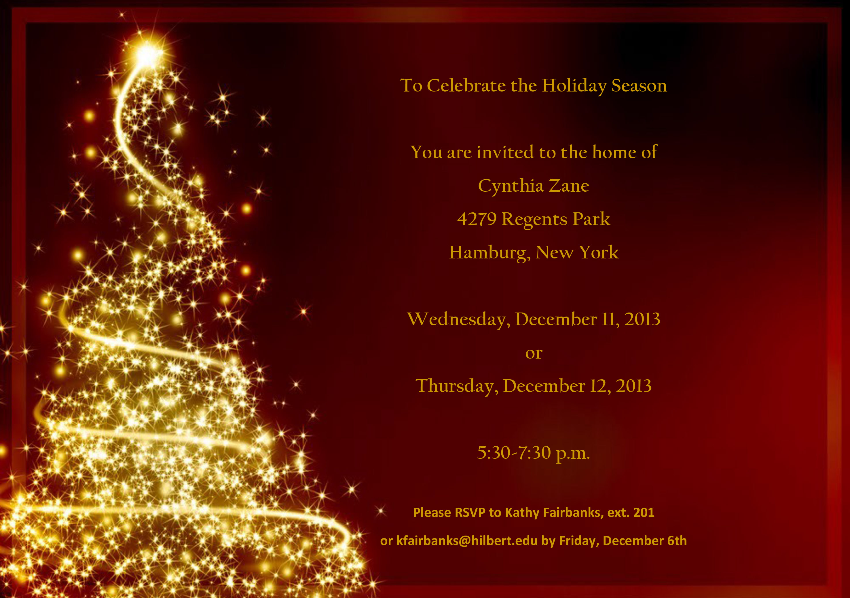 2013 Cynthia39;s House Christmas Invitation