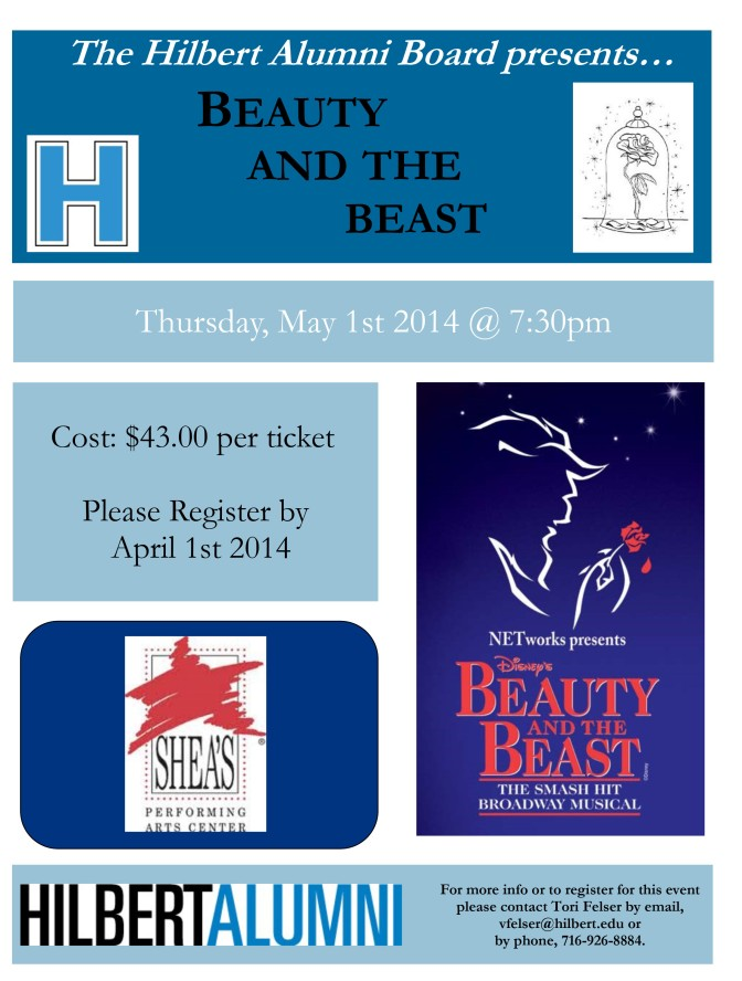 Beauty and the Beast Event Flyer