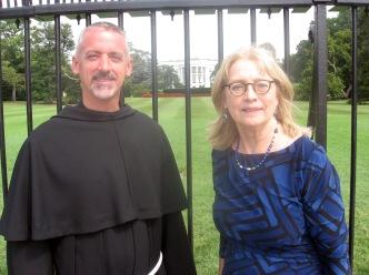 President Zane with Father Malachi Van Tassell, President of St. Francis University.